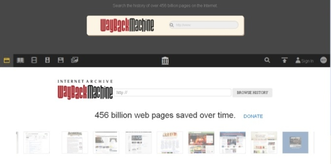 View websites as they once were.