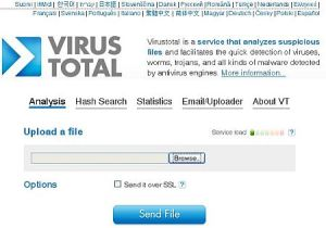 virustotal.com website
