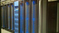 Facebook server and UPS racks