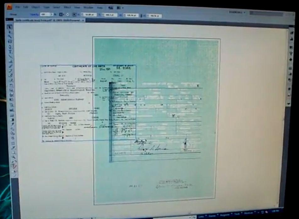 Youtube clip demonstrating Obama birth certificate may be a forgery