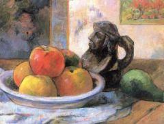 Paul Gauguin: Pommes, poire et céramique