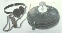 Marconi crystal radio using galena detector, 1923