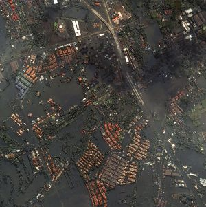 Full-size satellite photo of Bangkok flooding