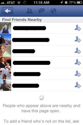 Facebook Friendshake screen