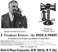 hush-a-phone ad