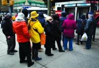 NYC payphone queue