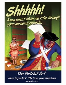 Patriot Act poster by ACLU