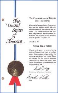 A U.S. patent
