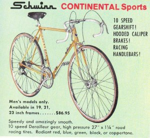 Schwinn Continental bicycle, c 1960