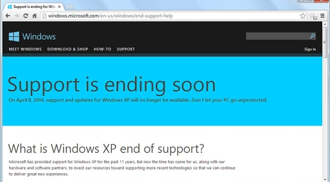 Windows XP's end of support questions