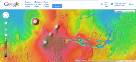 Google Mars screenshot