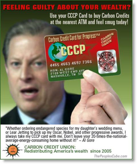 Al Gore carbon credit card