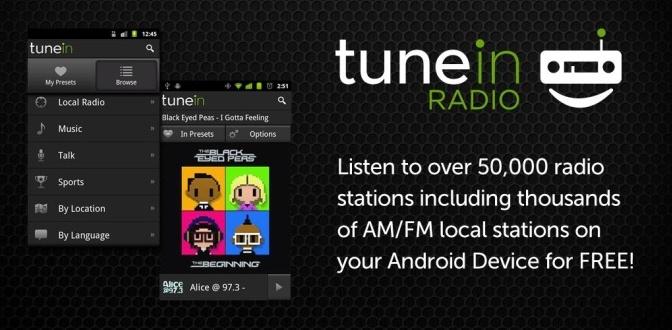 Restore TuneIn Android app
