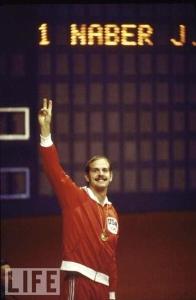 John Naber, 1976 Olympics, winner, 200 meter backstroke