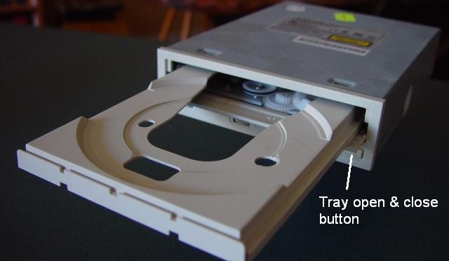 Don't push CD-ROM/DVD drive doors!