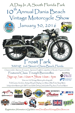 10th Annual Dania Beach Vintage Motorcycle Show Poster