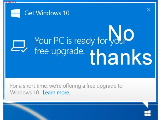 Remove the Windows 10 upgrade popup, updated